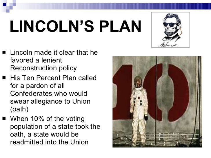 after confederates defeat plans for reconstruction surfaces set forth by andrew johnson and lincoln