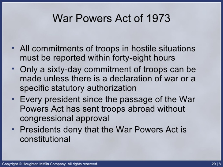 bkushistory [licensed for non-commercial use only] / War Powers Act