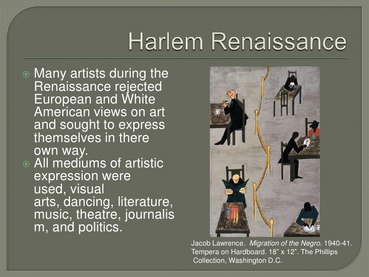 harlem renaissance speech Hey, black child is a encouraging poem for the possibilities of young children in the harlem renaissance era and all children for that matter, especially seeing that a black child's possibilities weren't made apparent at the time.