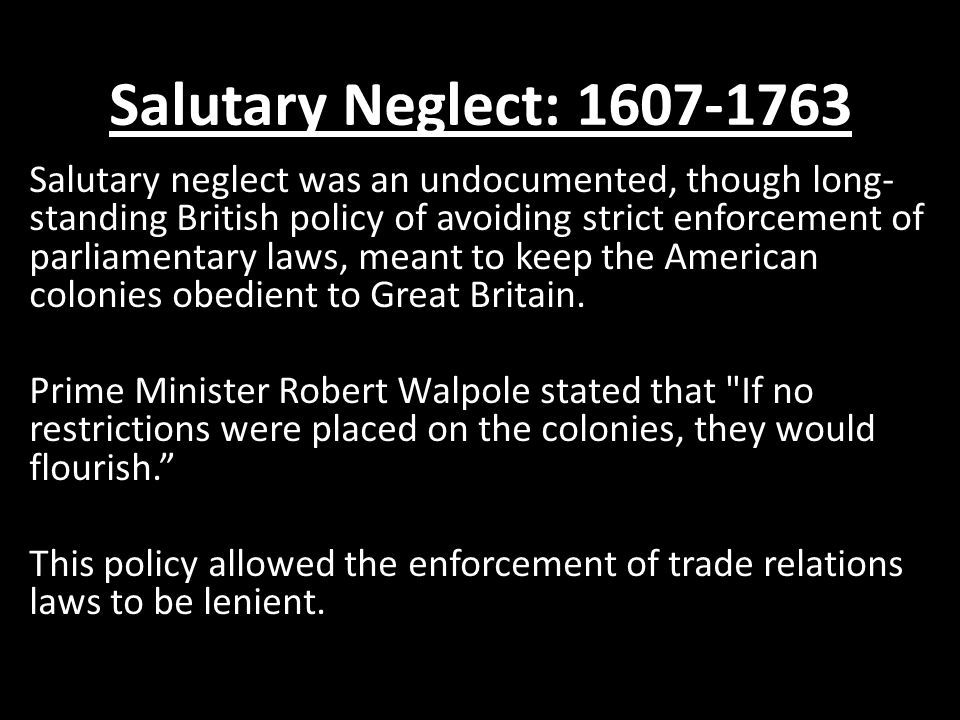 ap us history britain s salutary neglect Free response 1993-1997 - hoffman estates ap us history  analyze the ways in which britain's policy of salutary neglect influenced the development of american .