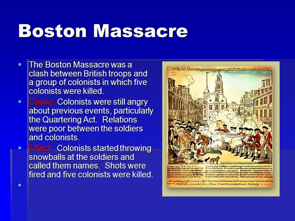 Bkushistory Licensed For Non Commercial Use Only Boston Massacre